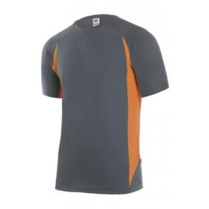 Camiseta tecnica manga corta 105501-8-19 gris/naranja VELILLA
