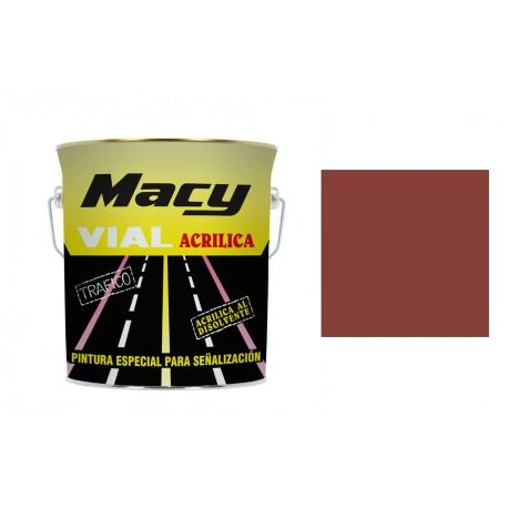 Pintura vial acrilica roja 15 litros MACY