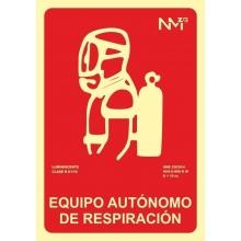 Señal equipo autonomo de respiracion pvc 300x210x0,7mm NORMALUZ
