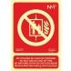 Señal no utilizar en caso de incendio 300x210 multi-idiomas NORMALUZ