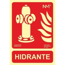 Señal hidrante pvc 300x210x0,7mm NORMALUZ