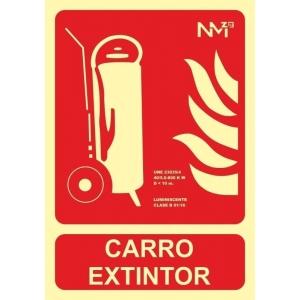 Señal carro extintor pvc 300x210x0,7mm NORMALUZ