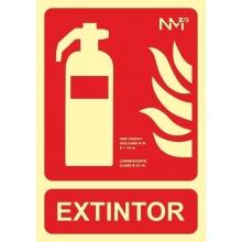 Señal extintor luminiscente aluminio 210x300x0,5mm NORMALUZ