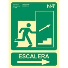 Señal escalera subida derecha pvc 224x300x0,7mm NORMALUZ