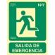 Señal salida de emergencia pvc 224x300x0,7mm NORMALUZ