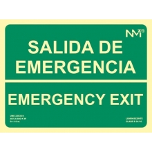 Señal salida emergencia pvc 224x300x0,7mm NORMALUZ