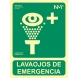 Señal luminiscente lavaojos emergencia pvc 224x300x0,7mm NORMALUZ