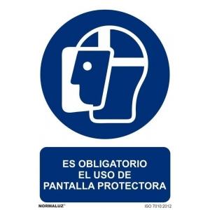 Señal obligacion uso pantalla protectora pvc 210x300x0,7mm NORMALUZ