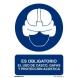 Señal obligacion uso casco,gafas y orejeras pvc 210x300x0,7m NORMALUZ