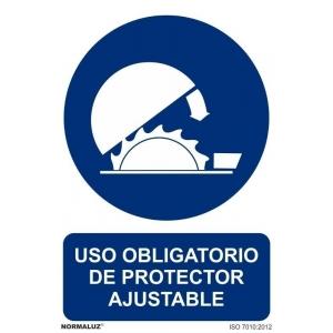 Señal obligacion uso protector ajustable pvc 100x150x0,7mm NORMALUZ