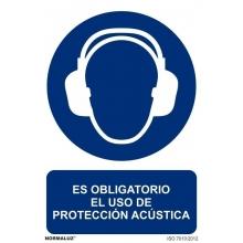 Señal obligacion uso proteccion acustica pvc 200x300x0,7mm NORMALUZ