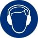 Señal adhesiva obligacion uso proteccion acustica vinilo 90 NORMALUZ