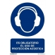 Señal obligacion uso proteccion acustica pvc 210x300x0,7mm NORMALUZ