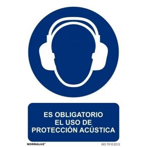 Señal obligacion uso proteccion acustica pvc 100x150x0,7mm NORMALUZ