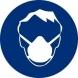 Señal adhesiva obligacion uso casco mascarilla 90mm NORMALUZ