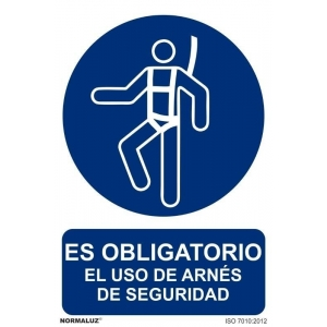 Señal obligacion uso cinturon de seguridad pvc 210x300x0,7m NORMALUZ