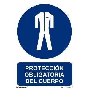 Señal proteccion obligatoria cuerpo PVC 210x300x0,7mm NORMALUZ