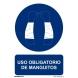 Señal obligacion uso manguitos pvc 210x300x0,7mm NORMALUZ
