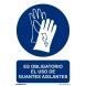 Señal obligacion uso guantes aislantes pvc 210x300x0,7mm NORMALUZ