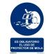 Señal obligacion protector muelas pvc 210x300x0,7mm NORMALUZ