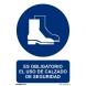 Señal obligacion uso calzado seguridad pvc 100x150x0,7mm NORMALUZ