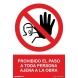 Señal prohibido el paso ajenos a la obra pvc 210x300x0,7mm NORMALUZ
