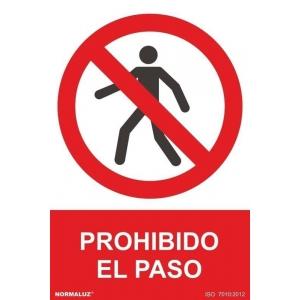 Señal prohibido el paso pvc 210x300x0,7mm NORMALUZ