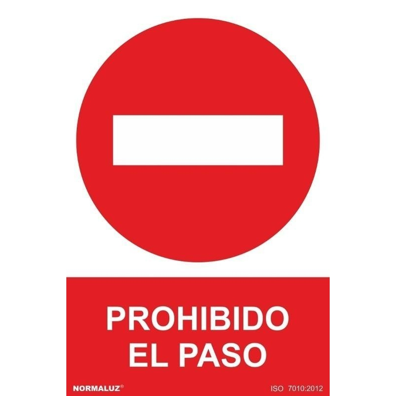 Se/ñal Adhesiva Prohibido El Paso Adhesivo de Vinilo 10x15 cm con CTE RD46602 RIPCI Nueva Legislaci/ón