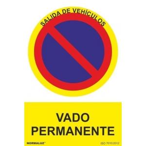 Señal vado permanente pvc 210x300x0,7mm NORMALUZ