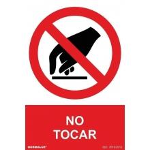 Señal prohibido tocar pvc 210x300x0,7mm NORMALUZ