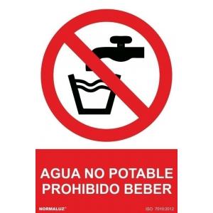 Señal prohibido beber pvc 210x300x0,7mm NORMALUZ