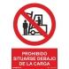 Señal prohibido situarse debajo de la carga pvc 210x300x0,7m NORMALUZ