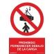 Señal prohibido permanecer debajo de la carga pvc 210x300x0, NORMALUZ