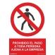 Señal prohibido el paso ajenos a la empresa pvc 410x300x0,7m NORMALUZ