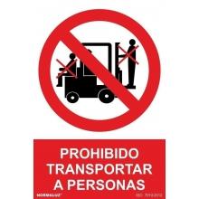 Señal prohibido transportar personas 100x150 NORMALUZ NORMALUZ