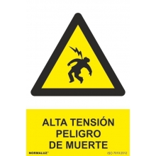 Señal alta tension pvc 210x300x0,7mm NORMALUZ