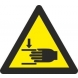 Señal adhesiva peligro atrapamiento vinilo 90mm RD38610 NORMALUZ