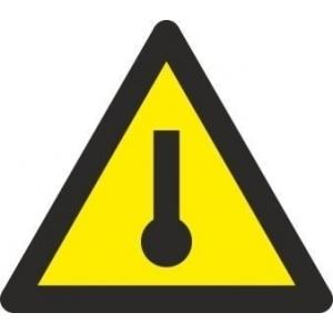 Señal adhesiva peligro alta temperatura vinilo 90mm RD38620 NORMALUZ