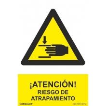 Señal riesgo de atrapamiento pvc 210x300x0,7mm NORMALUZ