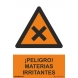 Señal peligro materias irritantes pvc 210x300x0,7mm NORMALUZ