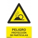 Señal proyeccion de particulas pvc 210x300x0,7mm NORMALUZ