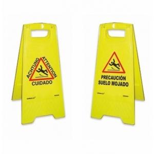Panel precaucion suelo mojado 620x300x210mm NORMALUZ