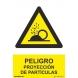 Señal adhesiva proyeccion de particulas vinilo 100x150mm NORMALUZ