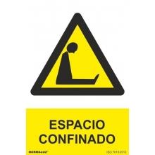 Señal riesgo Espacio Confinado PVC 210x300x0,7mm NORMALUZ