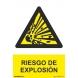 Señal riesgo de explosion pvc 210x300x0,7mm NORMALUZ