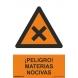Señal peligro materias nocivas pvc 210x300x0,7mm NORMALUZ
