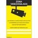 Señal camara de vigilancia pvc 300x400x0,7mm NORMALUZ