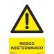 Señal riesgo indeterminado aluminio 210x300x0,5mm NORMALUZ