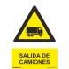 Señal salida de camiones aluminio210x300x0,5mm NORMALUZ