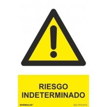 Señal riesgo indeterminado 100x150 NORMALUZ